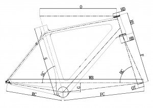 carbon-road-frame-B129-Geometry