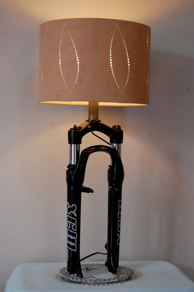 lamp made form bike