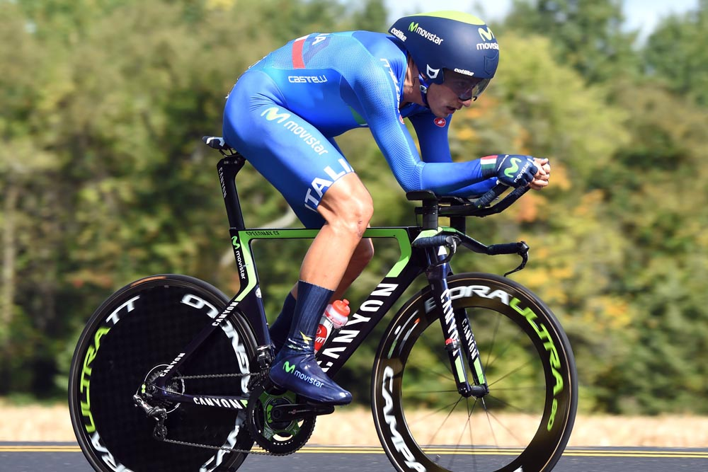 Adriano Malori in action during the 2015 Elite Mens TT World Championships