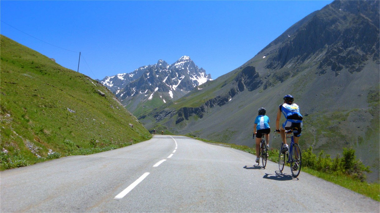 Col du Galibier road bike scenery