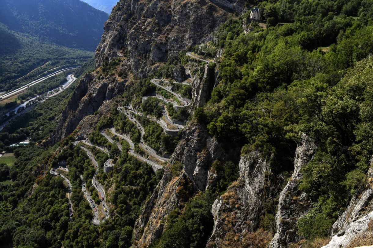 Lacets de Montvernier road bike