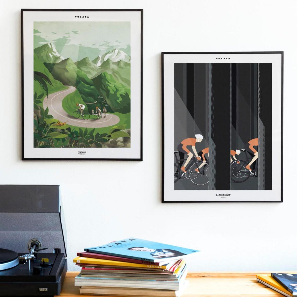 Volata cycling painting  (1)