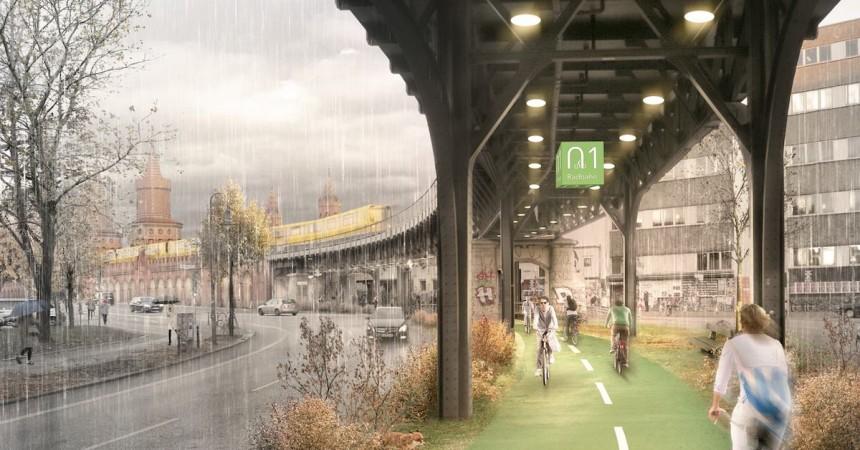 Radbahn, στεγασμένος ποδηλατόδρομος που ενώνει το Βερολίνο από άκρη σε άκρη