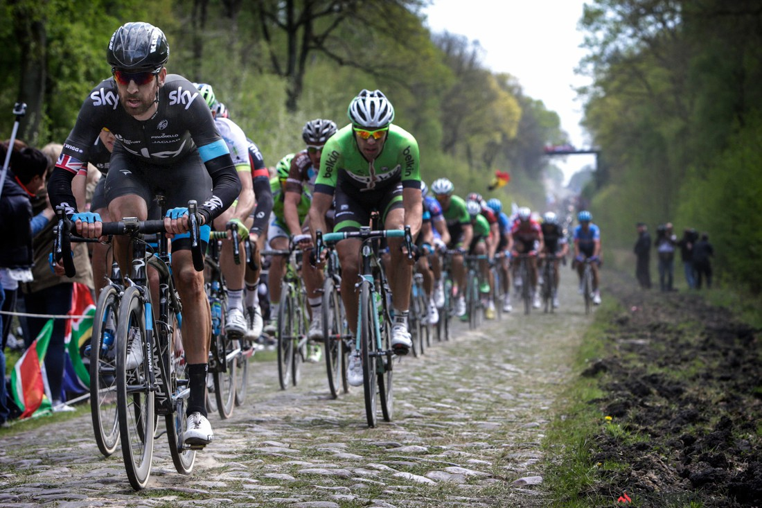 Roubaix - France - wielrennen - cycling - radsport - cyclisme -  Wiggins Bradley (Gbr - Team Sky) pictured during Paris - Roubaix 2014 - photo  Marketa Navratilova//Cor Vos © 2014