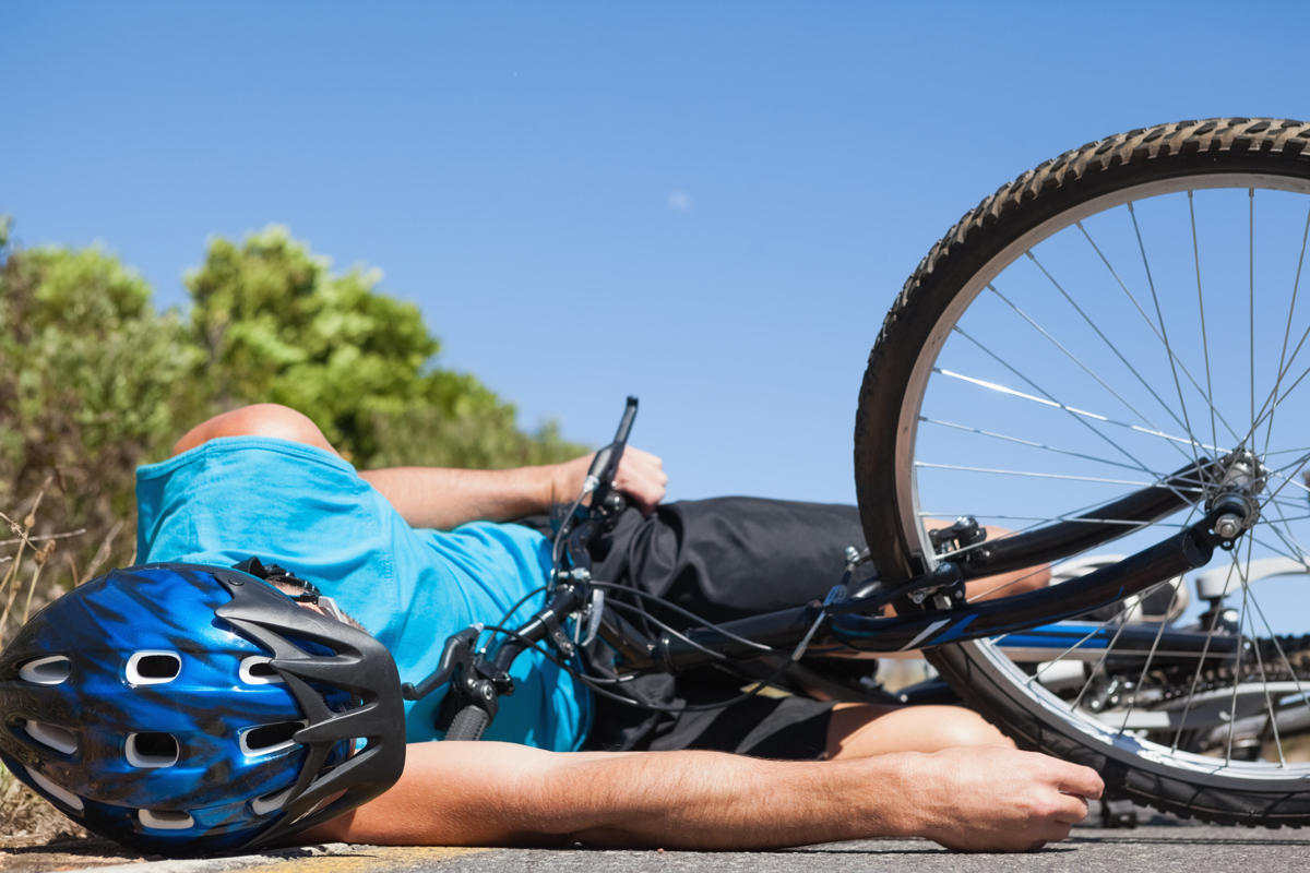 bicycle accident rider down