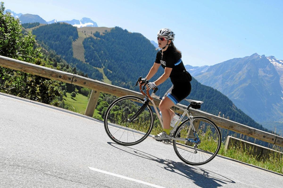 road bike with sun climb