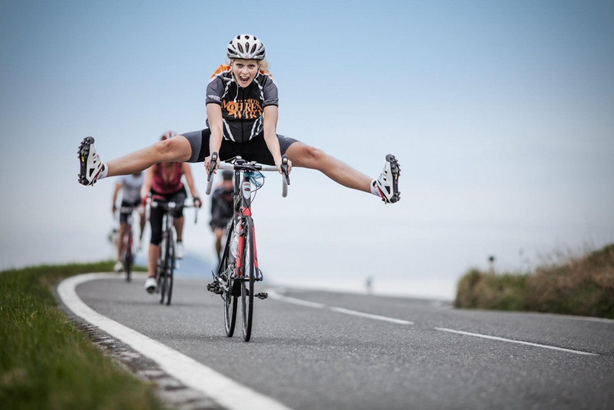road bike women fun