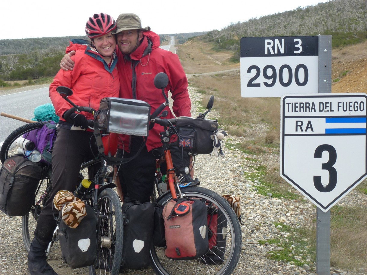 cycling with wife around the world on bike travel