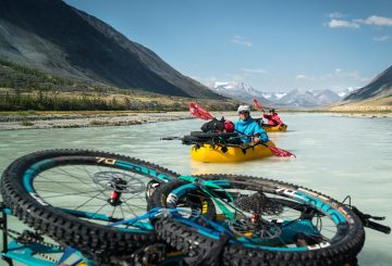 flashes of the altai rafting bike packing mtb