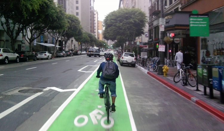 new york bike lane commute
