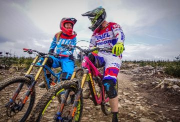 tahnee seagrace steve peat mtb bike park laugh