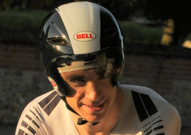 Jonathan Weatherley road biker aero helmet