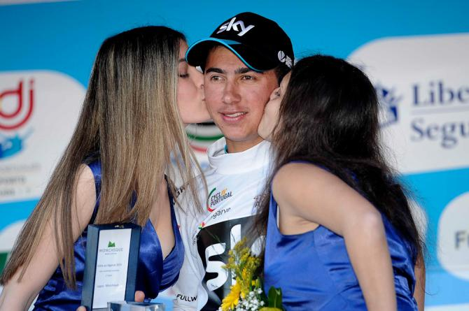 Sebastián Henao podium kisses