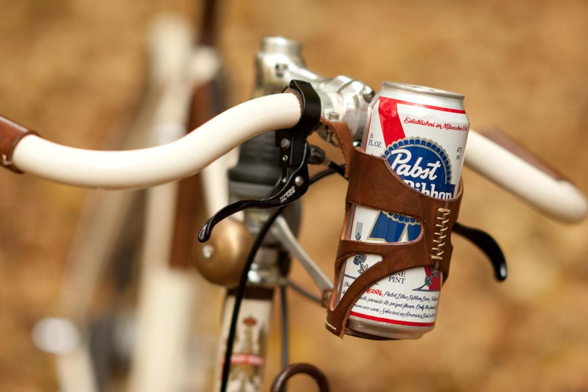 beer on handlebars