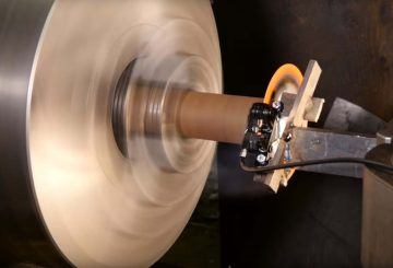 brake disk lathe experiment