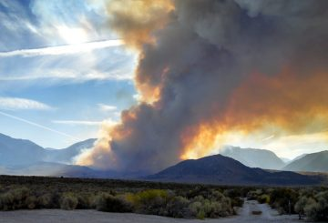 inyo nationa forest fire