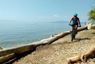 mtb female seaside