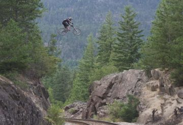 train gap jump huge drop downhill
