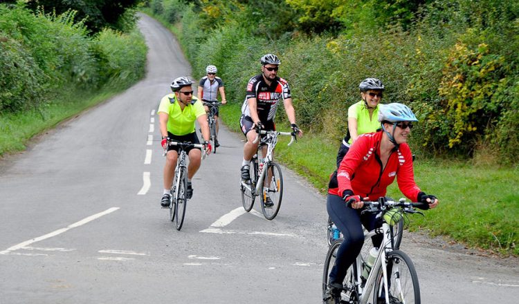 cycling with friends road