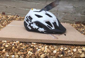 glowing knife destruction helmet