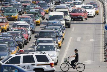 hong kong cyclist traffic