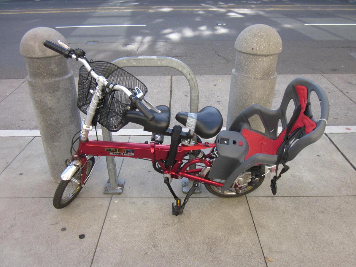 folding bike kid seat