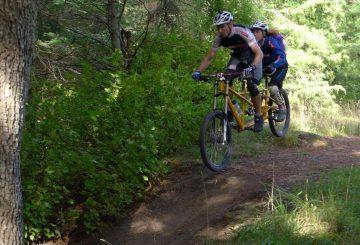 jump with tandem bike
