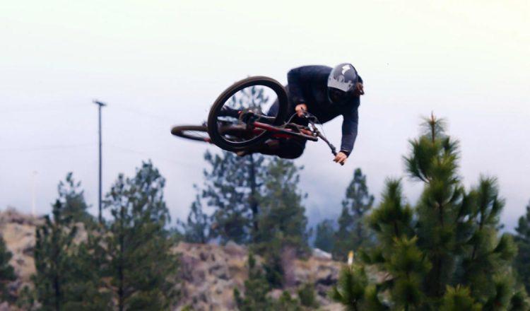 matt-miles tabletop jump downhill