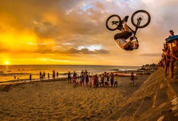 drop and roll frontflip beach