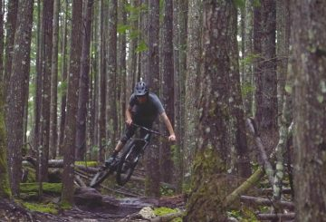 mtb jump enduro forest fun