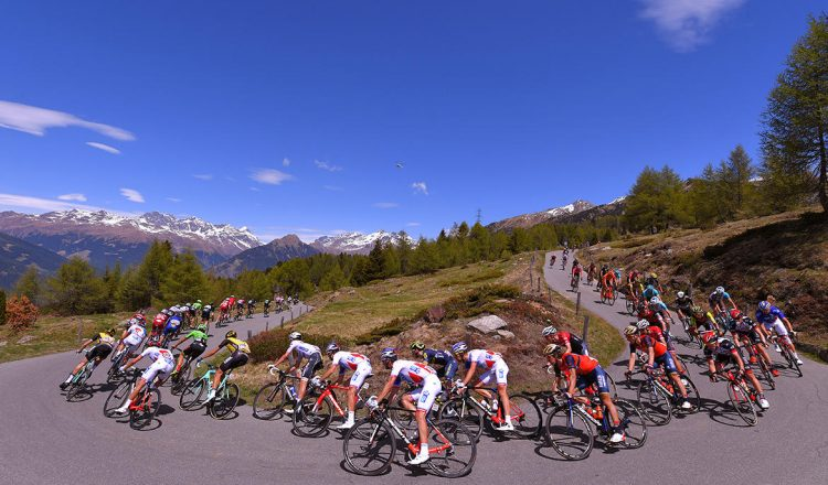 road bike giro turn view