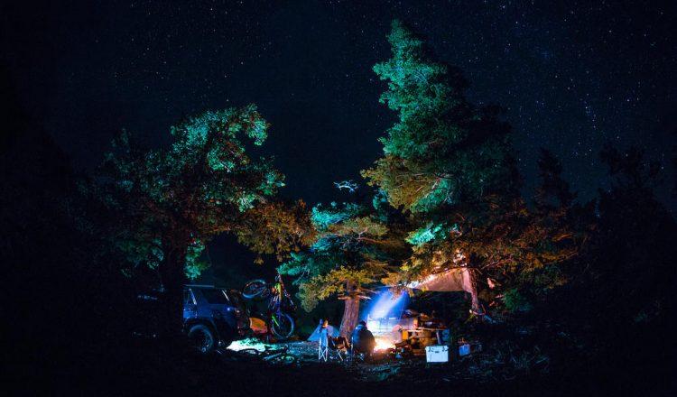 backroads bc mtb camp night fire