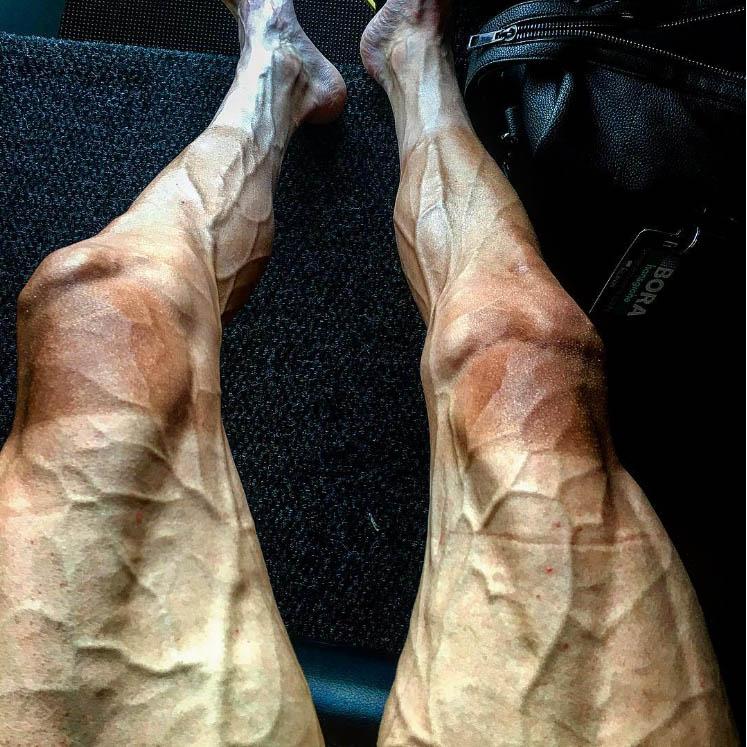 road biker legs veins tired exhausted