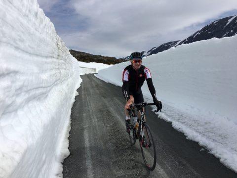 ποδηλατο δρόμου χιόνι